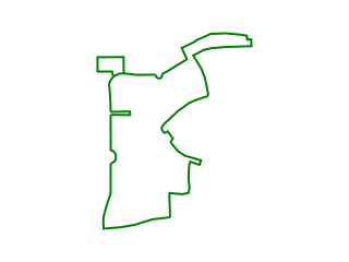 Map showing location of Green: Green Route